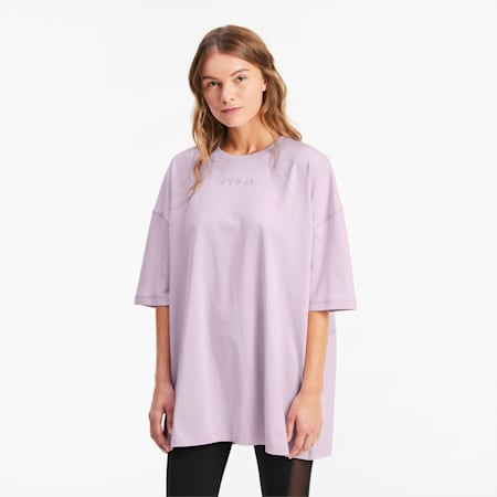 T-shirt oversize donna, Winsome Orchid, small