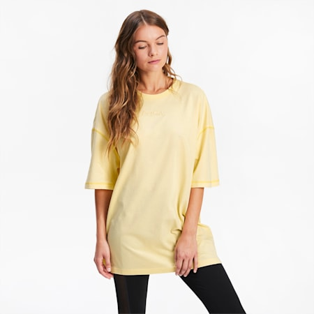 Übergroßes Damen T-Shirt, Mellow Yellow, small