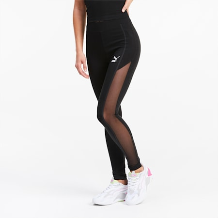 Mesh Damen Leggings, Puma Black, small