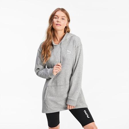 Sweat à capuche surdimensionné pour femme, Light Gray Heather, small