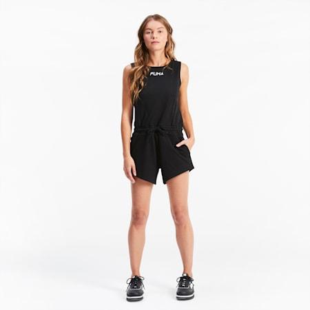 Sleeveless Women's Jumpsuit, Puma Black, small