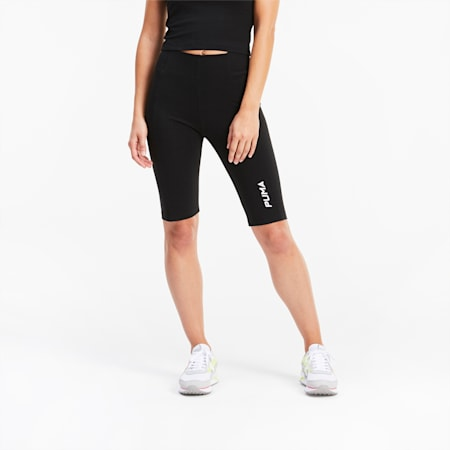 Women's Cycling Shorts, Puma Black, small