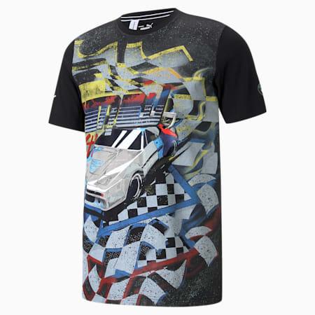 BMW M Motorsport Street Vintage Men's  T-shirt, Puma Black, small-IND