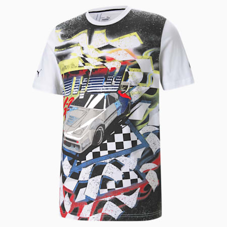 BMW M Motorsport Street Vintage Men's  T-shirt, Puma White, small-IND