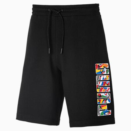 Shorts Flag para hombre, Puma Black, small