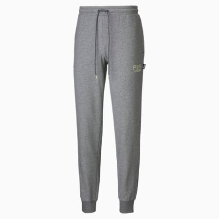 PUMA x MR DOODLE Men's Sweatpants, Medium Gray Heather, small