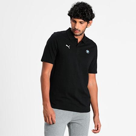 BMW M Motorsport Jacquard Men's Polo Shirt, Puma Black, small-IND