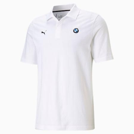 BMW M Motorsport Jacquard Men's Polo Shirt, Puma White, small-IND