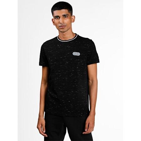 one8 Virat Kohli Men's Elevated Pique Slim  T-Shirt, Puma Black, small-IND