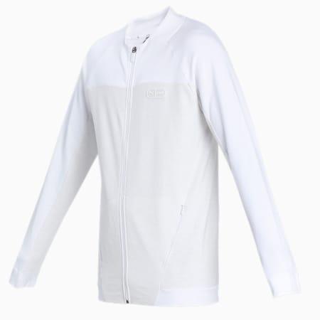 one8 Virat Kohli Men's Knit Mix Full Zip, Puma White Heather, small-IND
