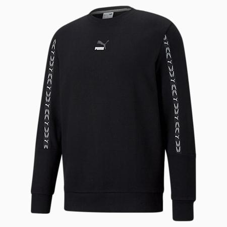 ELEVATE Crew Neck Men's Sweater, Cotton Black, small
