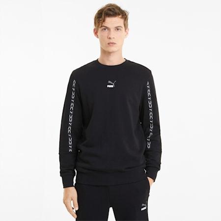 ELEVATE Crew Neck Men's Sweater, Cotton Black, small-GBR