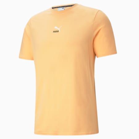 Camiseta para hombre Elevate con detalle de cinta, Peach Cobbler, small