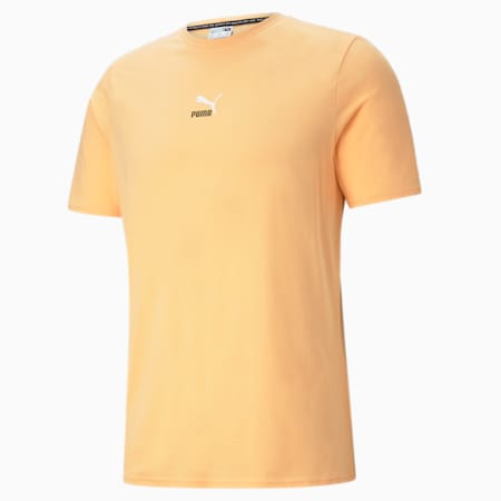 Elevate Tape Men's Tee, Peach Cobbler, small