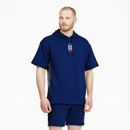 Sudadera con capucha manga corta Decor8 para hombre, Elektro Blue, pequeño