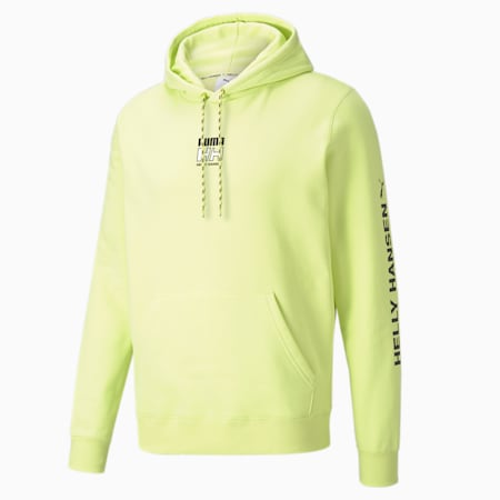 PUMA X HELLY HANSEN Men's Hoodie, Sunny Lime, small