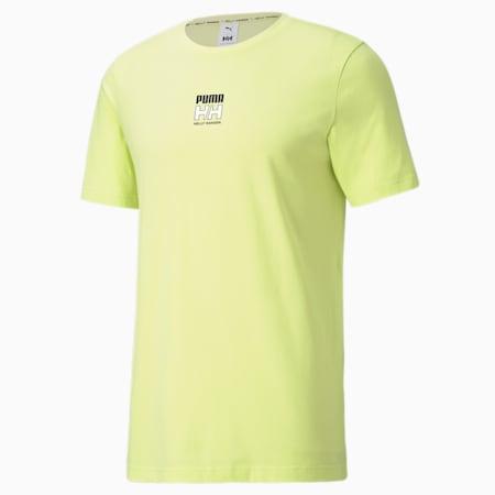 Męski T-shirt PUMA x HELLY HANSEN, Sunny Lime, small
