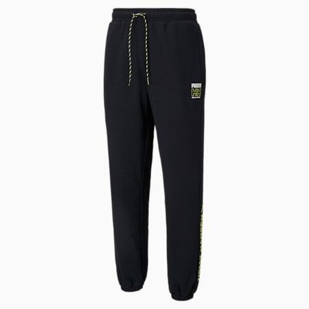 PUMA x HELLY HANSEN Fleece Men's Pants, Puma Black, small-GBR