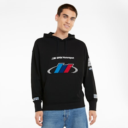 BMW M Motorsport Street Men's Hoodie, Puma Black, small-GBR