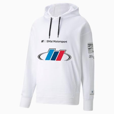 Sudadera con capucha BMW M Motorsport Street para hombre, Puma White, pequeño