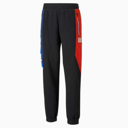 Pantalons en molletonurbains BMW M Motorsport, homme, Noir Puma-marina-bleu ferro-rouge risque élevé, petit