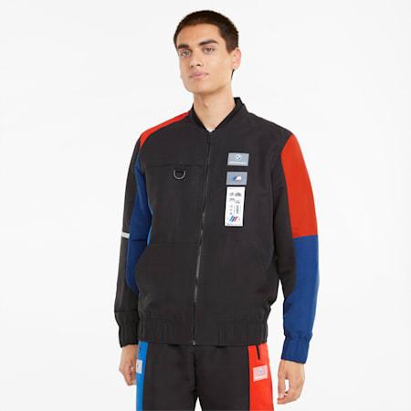 BMW M Motorsport Street Men's Motorsport Jacket, Marina-Blueprint-High Risk Red, small-GBR