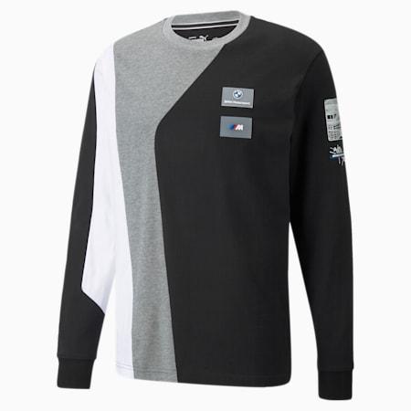 Camiseta manga larga BMW M Motorsport Street para hombre, Puma Black, pequeño