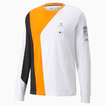 Camiseta manga larga BMW M Motorsport Street para hombre, Vibrant Orange, pequeño