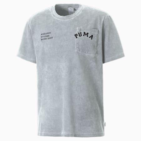 Camiseta PUMA X KidSuper Treatmentpara hombre, Gris y violeta, pequeño