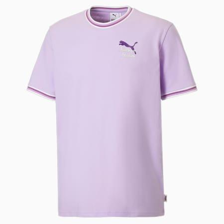 Camiseta para hombre con cuello acanalado PUMA X KidSuper, Light Lavender, small