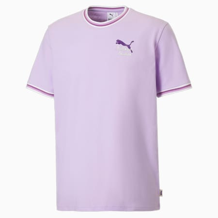 PUMA x KidSuper Ribbed Collar Herren T-Shirt, Light Lavender, small