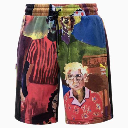 PUMA x KidSuper Printed Men's Shorts, Puma White-AOP, small