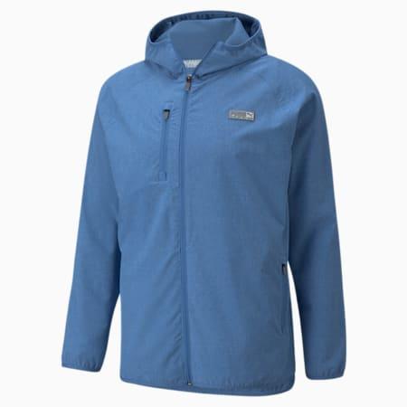 Chaqueta de Golf con capucha EGW para hombre, Federal Blue Heather, pequeño