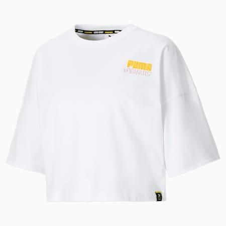 Damski T-shirt PUMA x PEANUTS, Puma White, small