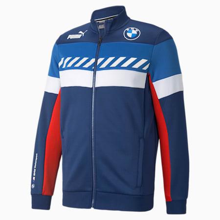 BMW M Motorsport SDS Men's Track Jacket, Marina-Blueprint-High Risk Red, small
