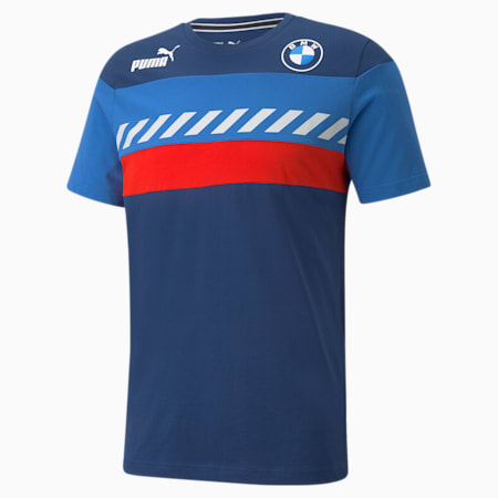 Camiseta BMW M Motorsport SDS para hombre, Marina-Blueprint-High Risk Red, pequeño