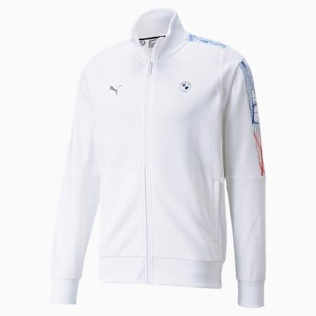 BMW M Motorsport T7 Full-Zip Men's Jacket, Puma White, small