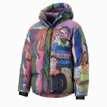 PUMA x KidSuper Printed Down Men's Puffer Jacket, Puma White-AOP, small