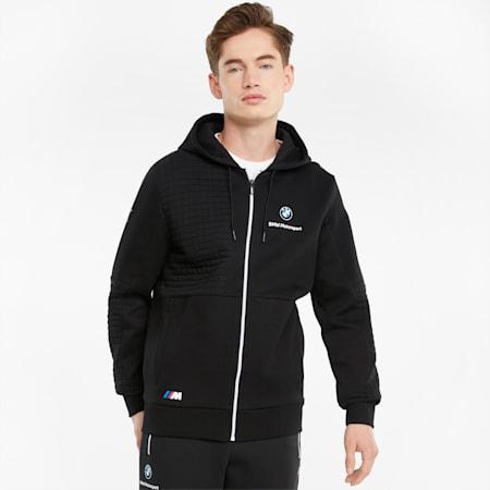 BMW M Motorsport Full-Zip Men's Hoodie, Puma Black, small