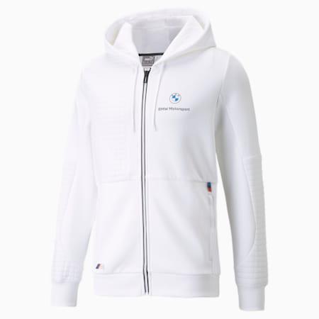 BMW M Motorsport hoodie met volledige ritssluiting heren, Puma White, small
