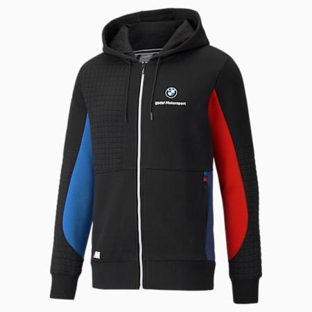 Sudadera con capucha de cierre completo BMW M Motorsport para hombre, Marina-Blueprint-High Risk Red, pequeño