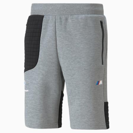 BMW M Motorsport Men's Sweat Shorts, Medium Gray Heather, small
