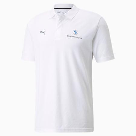 Camiseta tipo polo de jacquard BMW M Motorsport para hombre, Puma White, pequeño