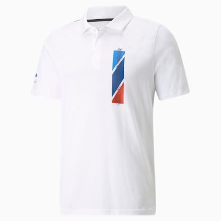 Chemise polo à graphique BMW M Motorsport, homme, Blanc Puma, petit