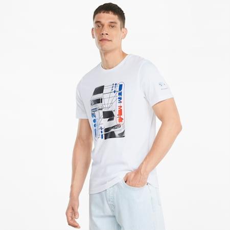 T-shirt graphique BMW M Motorsport Car, homme, Blanc Puma, petit