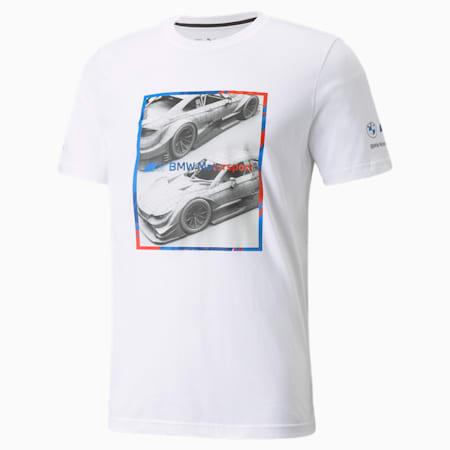 T-shirt à logo graphique BMW M Motorsport, homme, Blanc Puma, petit