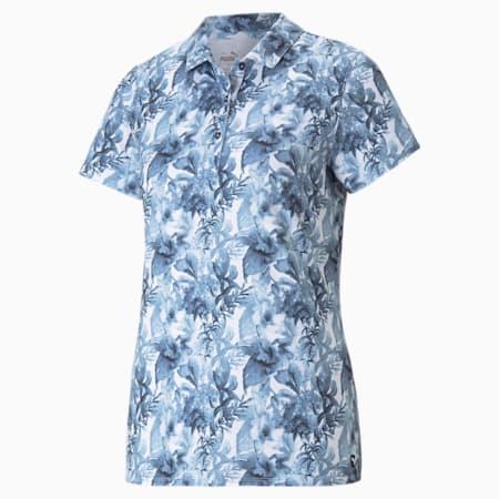 Cloudspun Tropical Women's Polo Shirt, Navy Blazer, small-GBR