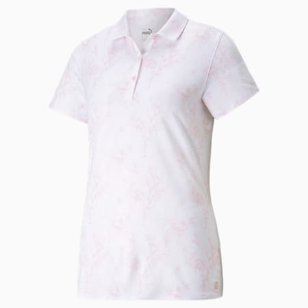 Cloudspun Tropical Women's Polo Shirt, Parfait Pink, small-GBR
