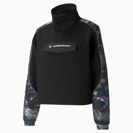 BMW M Motorsport Street Half-Zip Women's Jacket, Puma Black, small