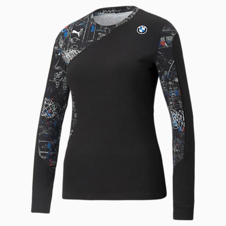 Camiseta de manga larga BMW M Motorsport Street para mujer, Puma Black, pequeño